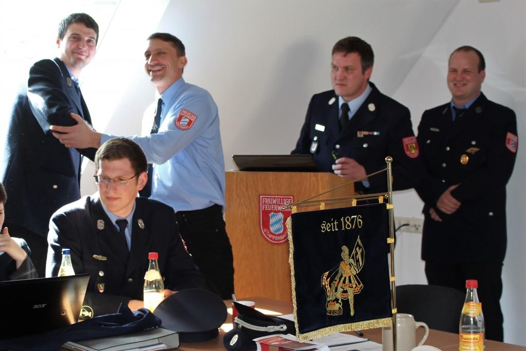 Fabian Gundalach mit Stefan Alt, im Hintergrund Sascha und Pascal Martin, im Vordergrund Georg Dreßel