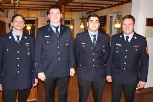 v.l. Stefan Alt, Bernd Dreßel, Andreas Lang, Sascha Martin (Beförderungen)